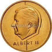 Belgium 20 Francs (20 Frank) 1995 Sets only KM# 192 Decimal Coinage coin reverse