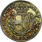 Belgium 20 Liards (20 Oorden, 5 Sols, 5 Stuivers) 1753 (h) KM# 13 Standart Coinage coin reverse