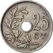 Belgium 25 Centimes 1923 KM# 68.1 Decimal Coinage 25 CES A. MICHAUX coin reverse