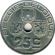 Belgium 25 Centimes 1938 KM# 115.1 Decimal Coinage BELGIE BELGIQUE 25C O.JESPERS coin obverse