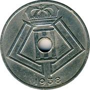 Belgium 25 Centimes 1938 KM# 115.2 Decimal Coinage 1938 coin reverse