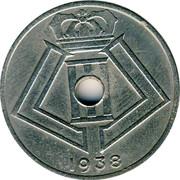 Belgium 25 Centimes 1938 KM# 115.1 Decimal Coinage 1938 coin reverse