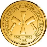 Belgium 25 Euro 175th Anniversary of the Royal Numismatic Society of Belgium 2016 SOCIETAS REGIA NUMISMATICA BELGII 1841 - 2016 175 coin obverse