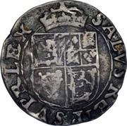 UK 3 Shillings 1642 KM# 96 Scotland SALVS REIP SUPR LEX coin reverse