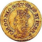 UK 30 Shillings Charles I ND KM# 49 CAR D G MAG BRIT FRAN ET HIB R coin obverse