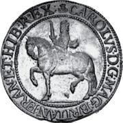 UK 30 Shillings Charles I ND KM# 89 CAROLVS • D:G • MAG • BRITAN • FRAN •ET • HIB • REX coin obverse