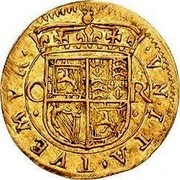 UK 30 Shillings Charles I ND KM# 49 VNITA TVEMVR coin reverse