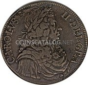 UK 4 Merks 1664 KM# 104.1 Scotland coin obverse