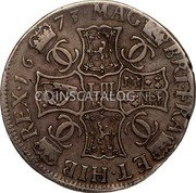 UK 4 Merks 1673 KM# 104.2 Scotland coin reverse