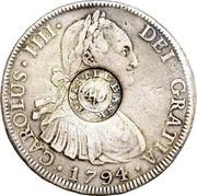 UK 4 Shillings 9 Pence ND KM# CC50 Scotland DEI GRATIA 1794 CAROLUS IIII coin obverse