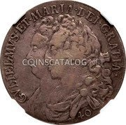 UK 40 Shillings 1692 KM# 125 Scotland coin obverse