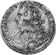 UK 40 Shillings 1696 KM# 143 Scotland coin obverse