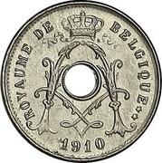 Belgium 5 Centimes 1910 KM# 66 Decimal Coinage ROYAUME DE BELGIQUE 1910 coin obverse