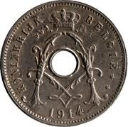 Belgium 5 Centimes 1914 KM# 67 Decimal Coinage KONINKRIJK BELGIË 1914 coin obverse