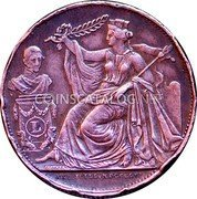 Belgium 5 Centimes (25th Anniversary Inauguration of the King) X# 4 XXI JUILL.MDCCCLVI coin obverse