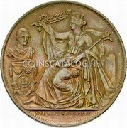 Belgium 5 Centimes (25th Anniversary of the Inauguration) X# M5 XXI JUILL. MDCCCLVI coin obverse