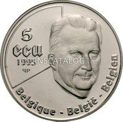 Belgium 5 ECU 1995 (qp) Proof KM# 200 European Currency Units coin obverse