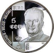 Belgium 5 ECU 1998 (qp) Proof KM# 221 European Currency Units coin obverse