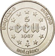 Belgium 5 ECU KM# 166 European Currency Units coin obverse