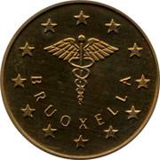 Belgium 5 ECU Museum of medicine 1994 UNC BRUOXELLA coin obverse