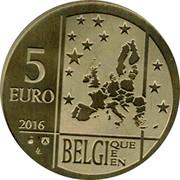 Belgium 5 Euro 50th Anniversary of the Death of Georges Lemaitre 2016 BU 2016 5 EURO BELGIE BELGIQUE BELGIEN coin obverse