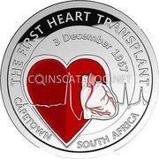 Belgium 5 Euro 50th Anniversary of the First Heart Transplant 2017 Proof THE FIRST HEART TRANSPLANT CAPETOWN SOUTH AFRICA 3 DECEMBER 1967 coin reverse