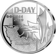 Belgium 5 Euro (75 Years after D-Day) D-DAY 6-6-1944 40-45 NORMANDY coin obverse