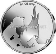 Belgium 5 Euro (90 Years of the Adventures of Tintin) SINCE 1929 HERGE/ML coin obverse