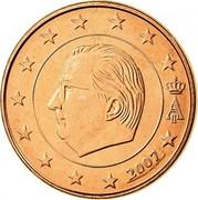 Belgium 5 Euro Cent Albert II - 1st type - 1st portrait 2007 Proof KM# 226 A II 2007 coin obverse