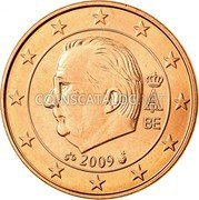 Belgium 5 Euro Cent KM# 297 Country Standart Coinage A II BE 2009 coin obverse