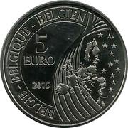 Belgium 5 Euro Mons - European Capital of Culture 2015 KM# 357 BELGIE BELGIQUE BELGIEN 5 EURO 2015 coin obverse