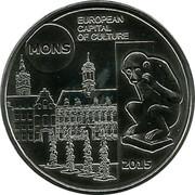 Belgium 5 Euro Mons - European Capital of Culture 2015 KM# 357 EUROPEAN CAPITAL OF CULTURE MONS 2015 coin reverse