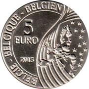 Belgium 5 Euro Mons European Capital of Culture 2015 BU KM# 353 BELGIE BELGIQUE BELGIEN 5 EURO Q P 2015 coin obverse