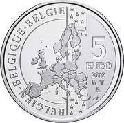 Belgium 5 Euro Moonlanding 2019 BELGIEN BELGIQUE BELGIE 5 EURO 2019 coin reverse