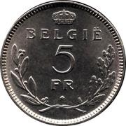 Belgium 5 Francs 1936 KM# 109.1 Decimal Coinage 5 FR BELGIË coin reverse
