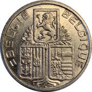 Belgium 5 Francs 1939 KM# 117.3 Decimal Coinage BELGIE BELGIQUE coin obverse