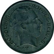 Belgium 5 Francs 1941 KM# 129.1 Decimal Coinage LEOPOLD III RAU ROI DES BELGES coin obverse