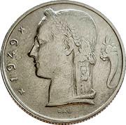 Belgium 5 Francs 1949 KM# 134.1 Decimal Coinage 1949 RAU coin obverse