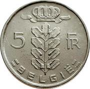 Belgium 5 Francs 1949 KM# 135.1 Decimal Coinage 5 FR BELGIË coin reverse