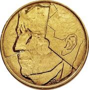 Belgium 5 Francs 1986 KM# 163 Decimal Coinage J.P.L coin obverse