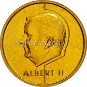 Belgium 5 Francs (5 Frank) 1995 Sets only KM# 189 Decimal Coinage coin reverse