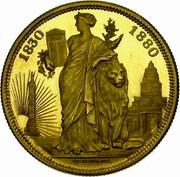 Belgium 5 Francs (50 Years of Belgium) X# M8b 1830 1880 coin reverse