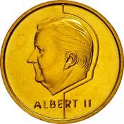 Belgium 5 Francs Albert II 1995 Sets only KM# 190 ALBERT II coin obverse
