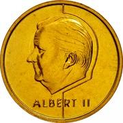 Belgium 5 Francs Albert II 1995 Sets only KM# 189 ALBERT II coin obverse