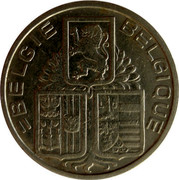 Belgium 5 Francs KM# 117.2 Decimal Coinage BELGIE BELGIQUE coin obverse