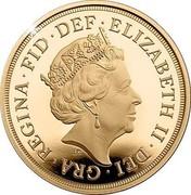 UK 5 Pounds Sapphire Jubilee 2018 65 Proof ELIZABETH II DEI GRA REGINA FID DEF J.C coin obverse