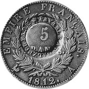 UK 5 Shillings ND KM# CC22 Scotland EMPIRE FRANCAIS 5 1812 coin obverse