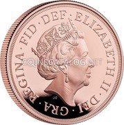 UK 5 Sovereign (The Sovereign)  coin obverse