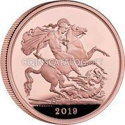 UK 5 Sovereign (The Sovereign)  coin reverse