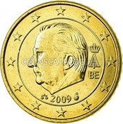 Belgium 50 Cents (Albert II) KM# 300 A II BE 2009 coin obverse